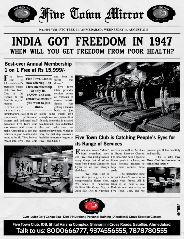 FTC Ad - Ahmedabad Mirror