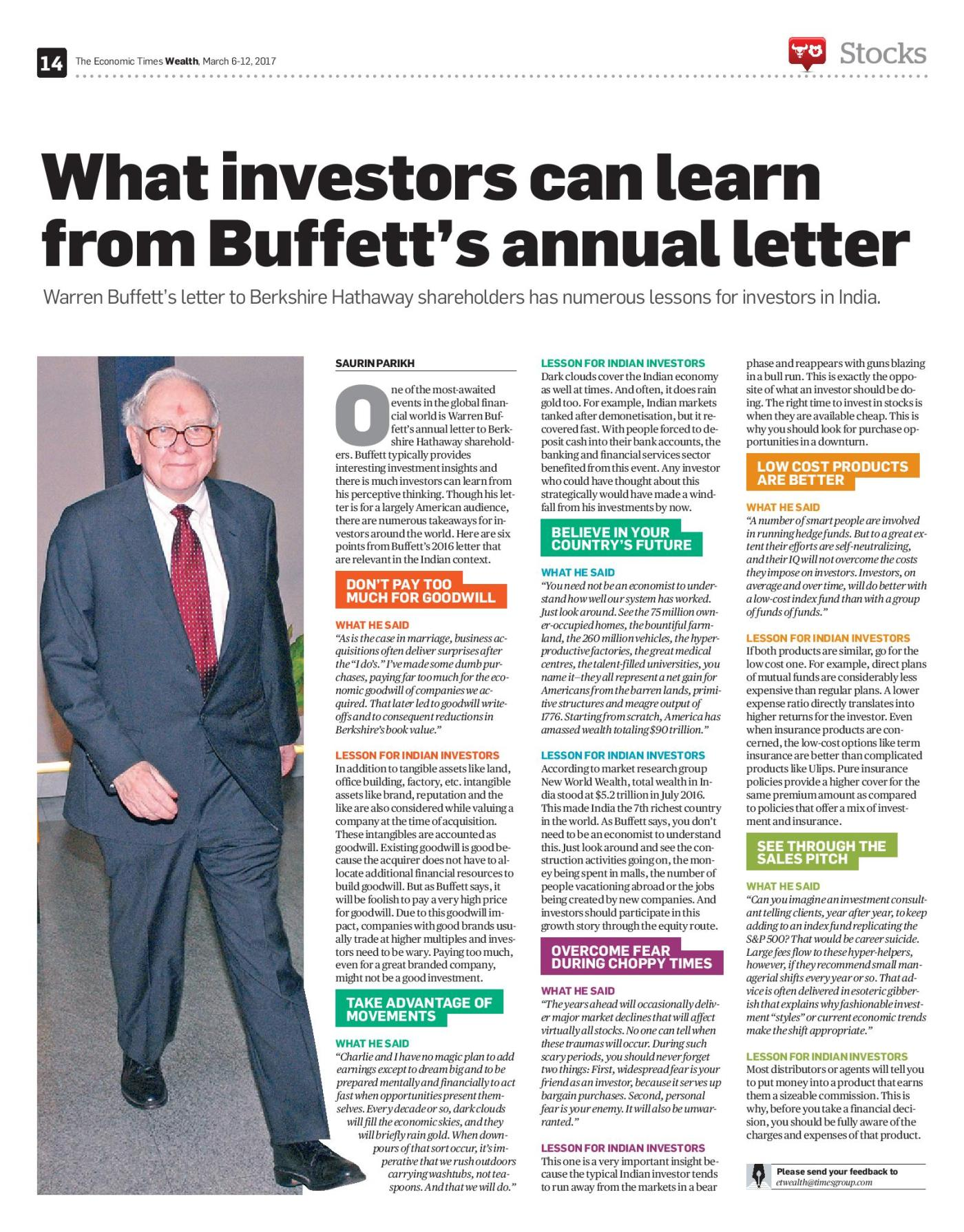 lessons for indian investors from warren buffetts annual letter saurin parikh
